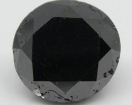 3.92ct Black Diamond Round