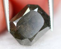 2.17Ct Natural Black Color Cut Fancy Diamond D0114