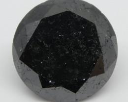 3.75ct Black Diamond Round