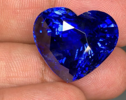 Royal Blue Burma - No Heat - Sapphire - Heart Shape 50ct - Gubelin Certifie