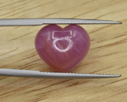 Unheated Ruby Heart Cab 8.70 CTS *