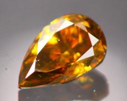 Diamond 0.19Ct Natural Cognac Color Fancy Diamond B0209