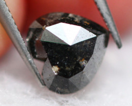 1.41Ct Natural  Fancy Black Rose Cut Diamond  E0204