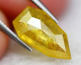 1.45Ct Natural Yellow Color Rose Cut Diamond D0213