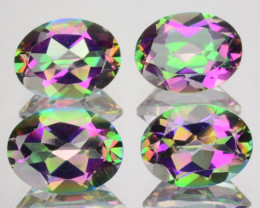 ~RAINBOW~5.78 Cts Natural Mystic Topaz Oval Cut