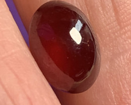 4.27ct DEEP ORANGE HESSONITE GARNET CAB