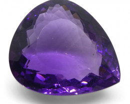 24.24ct Amethyst Pear Shape- $1 No Reserve Auction