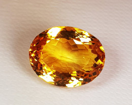 8.37 ct Top Quality Golden Whisky Color Top Luster Natural Citrine