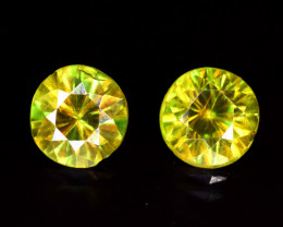1.20 Carats Pair Of Sphene Gemstones