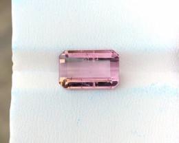 3.80 Ct Natural Pinkish Transparent Tourmaline Gemstone