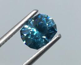 1.95 Carat VVS Zircon Caribbean Blue Master Cut Incredible Quality!