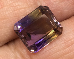 4.98 Carat VVS Ametrine Incredible Flash Quality  Bolivia Rare!