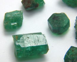 46Ct Natural Emerald Facet Rough Parcel
