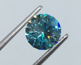 2.15 Carat VVS Zircon Caribbean Blue Master Cut Incredible Quality !