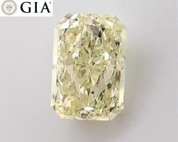 2.00 ct GIA Certified Diamond - VS2 - Light Yellow - Radiant $10,000