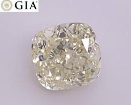 1.04 ct GIA Certified VVS1 Diamond - Light Yellow Cushion $3400