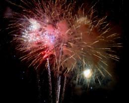 Fireworks in Kailua Kona, Hawaii.