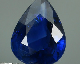 CERTIFIED 1.58 CTS AWESOME ROYAL BLUE SAPPHIRE HEATED FACETED GENUINE OVAL