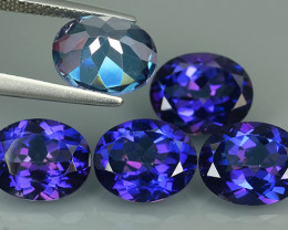 16.30 CTS SUPERIOR! TOP OVAL SET TANZANITE COLOR TOPAZ GENUINE NR!!