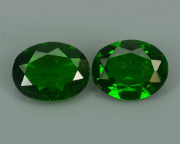 Private Auction 2.65 CTS NATURAL ULTRA RARE CHROME GREEN DIOPSIDE OVAL  RUS