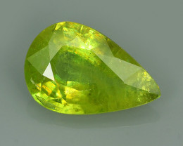3.00 CTS PEAR CUT 100% NATURAL RARE COLOR MADAGASCAR SPHENE GEM!