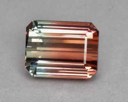 9.63 Cts Fabulous Beautiful Natural Bi Colour Tourmaline