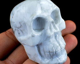 Genuine 831.00 Cts Howlite Carved Skull