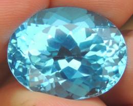 21.79cts, Swiss Blue Topaz,   Top Cut