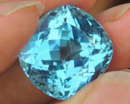 27.70cts, Swiss Blue Topaz,   Top Cut