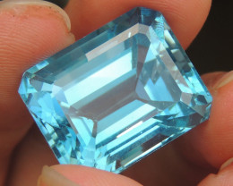 39.24cts, Swiss Blue Topaz,   Top Cut