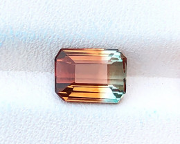 1.55 Ct Natural Bi Color Transparent Tourmaline Ring Size Gemstone