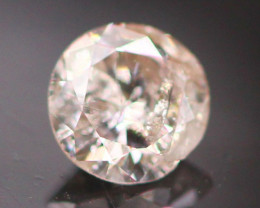 Argyle Pink 0.19Ct Natural Round Cut Pink Color Diamond D0311
