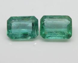 3.04ct Emerald Pair Emerald Cut