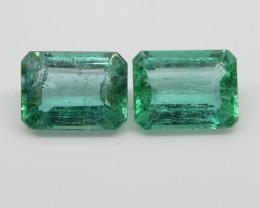 3.18ct Emerald Pair Emerald Cut