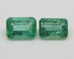 2.22ct Emerald Pair Emerald Cut