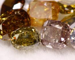 1.0Ct  Natural Fancy Shapes Color Diamond Lot BM233