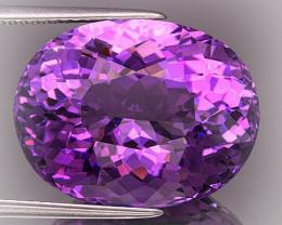 Superbly toned Uruguay Amethyst VVS 15.27cts Pink Purple