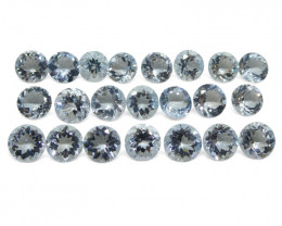 18.89ct Aquamarine Round Wholesale Lot