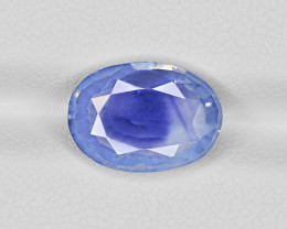 Blue Sapphire, 4.55ct - Mined in Kashmir | Certified by GRS