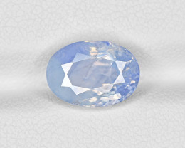 Blue Sapphire, 4.73ct - Mined in Kashmir | Certified by GRS