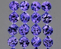 2.00 mm Round 20 pcs Unheated Violet-Blue Sapphire [VVS]