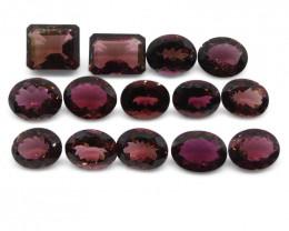 46.95ct Pink Tourmaline Oval/Emerald Cut Wholesale Lot