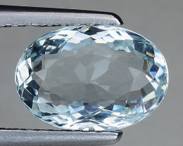 1.76 Ct Natural Aquamarine Sparkling Luster Gemstone. AQ 03
