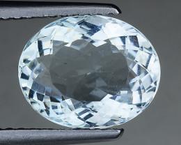 2.52 Ct Natural Aquamarine Sparkling Luster Gemstone. AQ 06