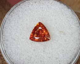 1,68ct orange Sphalerite - high dispersion gemstone!