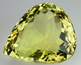 16.88 Ct Natural Lemon Quartz Top Cutting Top Quality Gemstone. LQ 06