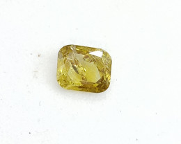 0.18ct  Fancy Intense grayish brownish Green  Diamond , 100% Natural Untrea