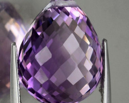 14.77cts Incredibly beautiful purple Amethyst briollette (drilled)