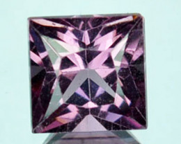 0.84Ct Natural Purple Pink Spinel Square Princess 5mm