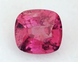 Bright Reddish Pink 'Hot Pink' Cushion Cut Spinel - Burma NR25